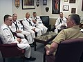 US Navy 040426-N-5477D-006 Master Chief Thomas W. Mobley, right, speaks with Navy Reserve Force 2004 Sailor of the Year candidates.jpg