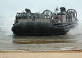 US Navy 070329-N-6710M-035 Landing Craft Air Cushions (LCAC) assigned to Beach master Unit (BMU) 5 WESTPAC prepare to onload equipment while on Republic of Korea shores in support of Foal Eagle 07.jpg