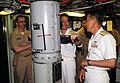 US Navy 090513-N-5013K-062 Vice Adm. Tohru Izumi, commander in chief, Self-Defense Fleet, Japan Maritime Self-Defense Force (JMSDF), uses the periscope aboard USS Seawolf (SSN 21).jpg