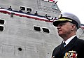 US Navy 100116-N-8273J-231 Chief of Naval Operations (CNO) Adm. Gary Roughead participates in the commissioning ceremony of the Navy's newest littoral combat ship USS Independence (LCS 2).jpg