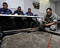 US Navy 100615-N-9643W-180 Marine Corps Sgt. Juan Martinez prepares a 3D-model terrain for members of the Nicaraguan military during a subject matter expert exchange.jpg