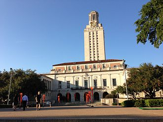 Texas oil boom - The main building of the University of Texas at Austin, built in part with oil revenues