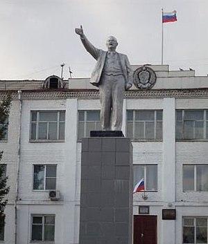 Uyar, Uyarsky District, Krasnoyarsk Krai - Monument to Vladimir Lenin in Uyar