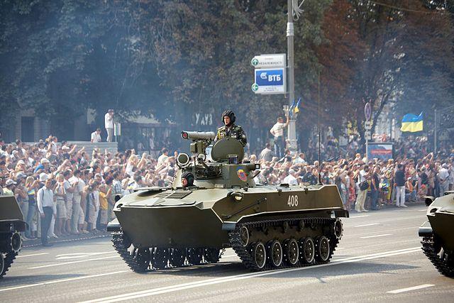 BMD-2 parade Kiev