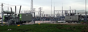 Electrical substation - 380kV/110kV/20kV station in Germany