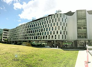 Science Faculty building, UTS - Perspective showing organic form of the Science and Graduate School of Health Building UTS.