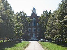 Union Christian College building in Merom.jpg