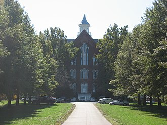 Merom, Indiana - The former Union Christian College in Merom is listed on the National Register of Historic Places