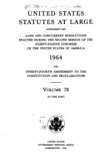 United States Statutes at Large Volume 78.djvu