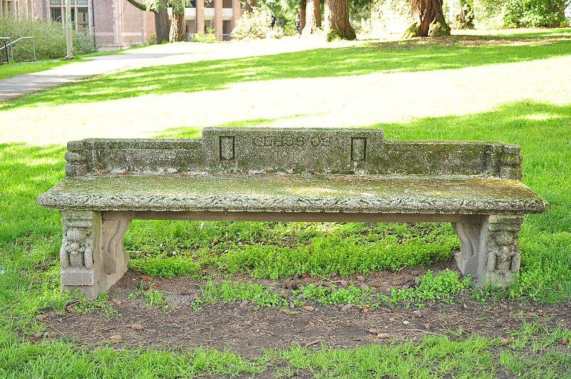 File:University of Washington - memorial bench 01.jpg