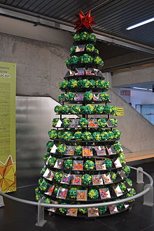 A Christmas Tree Decoration With Polyhedrons At The Universum Museum In Mexico City