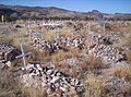 Unmarked graves in cemetery at Shafter, Texas, an unincorporated community in Presidio County..JPG