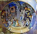 Urbino, bottega fontana, piatto con incendio di borgo (da marco da ravenna), 1560 ca..JPG