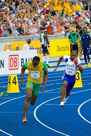 2009 World Championships in Athletics – Men's 200 metres - Usain Bolt led the race from start to finish