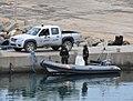 Véhicule et bateau de la Garde nationale, Tunisie.jpg