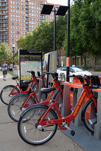 Capital Bikeshare - Capital Bikeshare automated rental facilities are powered with solar panels.