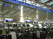 Check-in desks in Suvarnabhumi Airport Bangkok