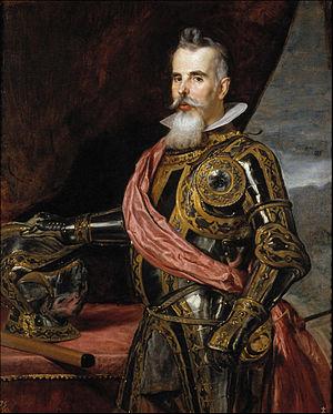 Velázquez - Juan Francisco de Pimentel, conde de Benavente (Museo del Prado, 1648).jpg