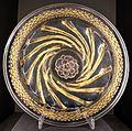 Venezia, piatto in vetro di murano con dorature, 1510 ca.jpg