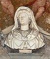 Ventura salimbeni, fede, speranza e angeli (1606) che incoronano il busto di cristina di lorena (di leonardo marcacci, 1600-10 ca.) 03.jpg