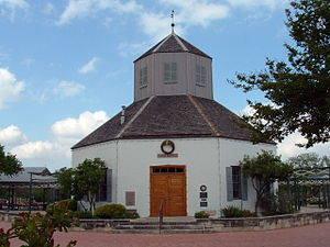 History of Fredericksburg, Texas - The Vereins Kirche was the first public structure erected in Fredericksburg