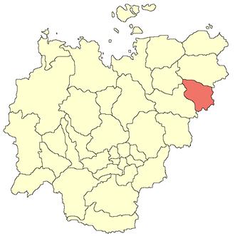 Verkhnekolymsky District - Image: Verkhnekolymsky ulus location