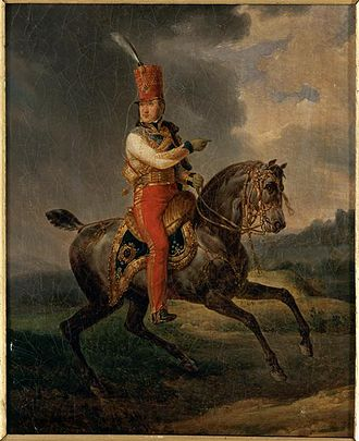 Louis Philippe I - Louis-Philippe as Colonel-General of the Hussars during the Bourbon Restoration