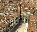 Verona - Piazza Erbe as seen from Lamberti tower.jpg