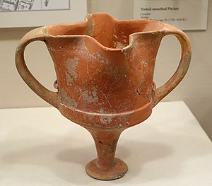 Alişar Hüyük - Vessel with a quatrefoil mouth, Alishar, Middle Bronze Age III, 1750-1650 BC, ceramic - Oriental Institute Museum, University of Chicago