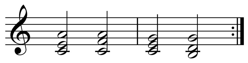 Vi-IV-I-V chord progression in C