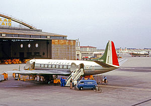 Alitalia-Linee Aeree Italiane - Alitalia Vickers Viscount at Milan Linate Airport in 1965