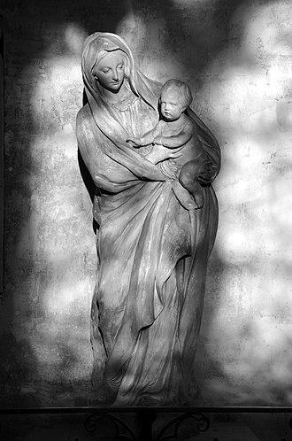 Jean-Jacques Caffieri - Image: Vierge à l'enfant de Jean Jacques Caffieri Eglise Saint Antoine a Compiegne DSC 0276