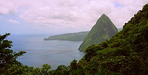Pitons - Image: View of Petit Piton from Gros Piton