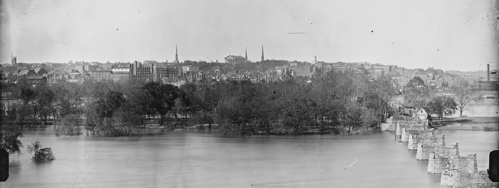 Richmond skyline after the evacuation fire of 1865