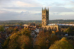 View of St Nicolas Church Warwick.JPG