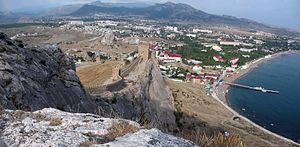 View of Sudak from Genoese Fortress.jpg