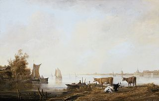 View of the Maas near Dordrecht