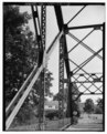 View southeast, truss connections - North Williston Bridge, Spanning Winooski River at town line of Essex and Williston on Town Highway 1, southwest of intersection of Town Highway HAER VT,4-ESX,1-13.tif