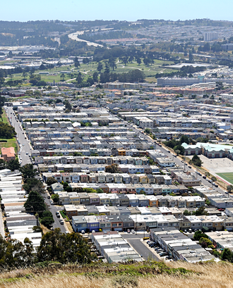 "Little Boxes - Tract housing in Daly City, California, a suburb of San Francisco, inspired Reynolds to write ""Little Boxes""."