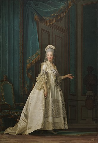 Juliana Maria of Brunswick-Wolfenbüttel - Juliane Marie as queen dowager at the height of her influence by Vigilius Eriksen