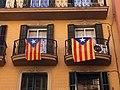 Vila de Gràcia. Barcelona. Catalonian Flags. - panoramio.jpg