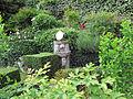 Villa san michele, giardino ovest, fontanella.JPG