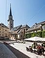 Villach Innenstadt Rathausplatz und Pfarrkirche hl. Jakob Glockenturm SO-Ansicht 02072018 3818.jpg