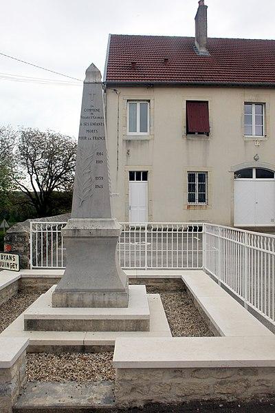 Monument aux morts de Villars-Saint-Georges (Doubs).