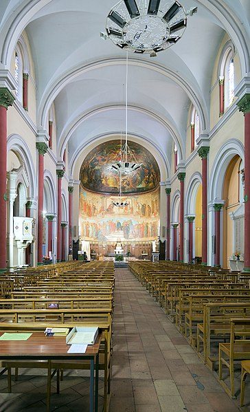 English:   Villemur-sur-Tarn. St. Michael's Church. Paintings on the ceiling of the apse by Bernard Benezet 1862.