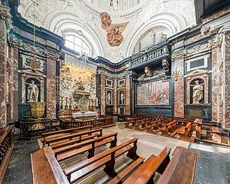 The 17th century Chapel of Saint Casimir, a patron saint of Lithuania and its youth, in the Cathedral of Vilnius Vilnius Cathedral Chapel of Saint Casimir, Vilnius, Lithuania - Diliff.jpg