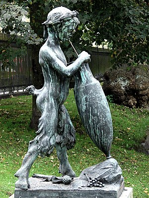 Louis Hasselriis - Image: Vinsugende satyrdreng