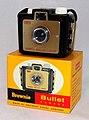 Vintage Brownie Bullet 127 Film Camera By Eastman Kodak, Promotional Version Of The Brownie Holiday Camera, Made In USA, Circa 1957 - 1964 (35907585705).jpg