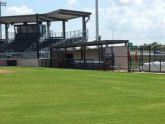Lamar Softball Complex - Image: Visitors dugout interior