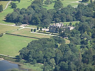 Killarney National Park - Muckross House as seen from the top of Torc Mountain